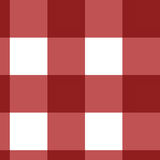 Picnic cloth. Red picnic cloth texture with cubic features Stock Photos