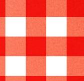 Picnic cloth. Close up of a red picnic cloth Royalty Free Stock Photo
