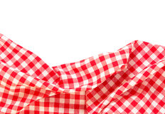 Picnic cloth frame isolated. Royalty Free Stock Images