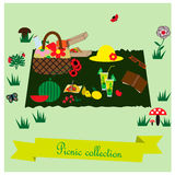 Picnic collection Royalty Free Stock Image