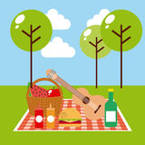 Picnic concept design Royalty Free Stock Photo