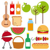 Picnic concept design Stock Images