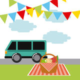 Picnic concept design Stock Photography