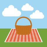 Picnic concept design Royalty Free Stock Image