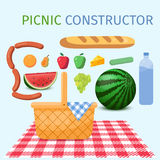 Picnic constructor Stock Photo