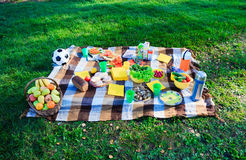 Picnic in the country. On the grass Stock Photography