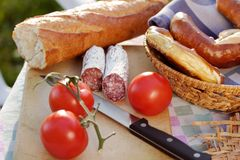 Picnic in countryside Stock Photo