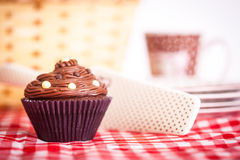 Picnic and Cupcake Royalty Free Stock Images
