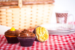 Picnic and Cupcakes Stock Photo