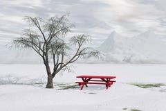 Picnic di inverno royalty illustrazione gratis