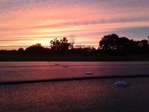 Picnic di tramonto fotografie stock libere da diritti