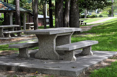 Picnic Eating Areas. Eating areas at parks or at rest stops on many U.S. highways Royalty Free Stock Photo