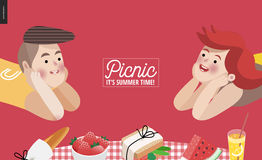 Picnic elements, banner template Stock Image