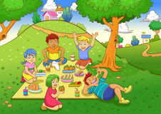 Picnic. EPS10 File simple Gradients, no Effects, no mesh, no Transparencies. All in separate layer and group for easy editing stock illustration