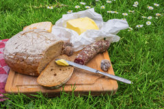Picnic on a farm Royalty Free Stock Photo