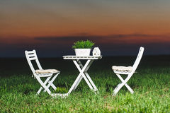 Picnic in Field Royalty Free Stock Images