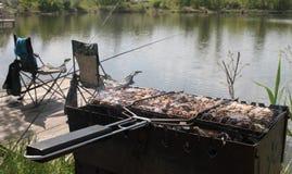 Picnic on a fishing trip. Picnic on a fishing trip Kiev stock image