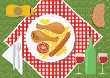 Picnic food. On a summer day Stock Image