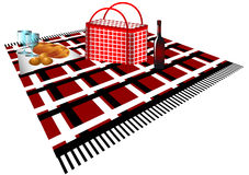 Picnic. food on plaid Royalty Free Stock Image