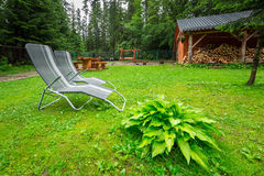 Picnic in the forest of Tatra mountains Royalty Free Stock Photos