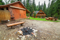 Picnic in the forest of Tatra mountains Royalty Free Stock Photography