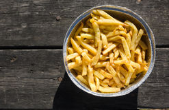 Picnic french fries Royalty Free Stock Images