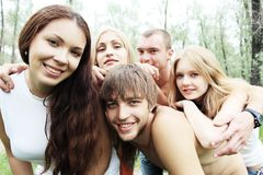 Picnic with friends Stock Photos
