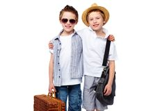 Picnic friends or travelers Royalty Free Stock Photography