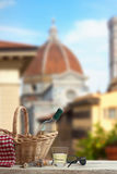 Picnic in Front of the Duomo in Florence Stock Image