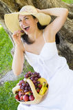 Picnic with Fruit Stock Photography