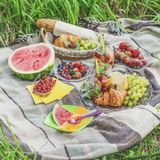 Picnic in the garden Stock Photography
