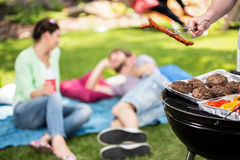 Picnic in the garden. At sunny day Stock Photo
