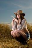 Picnic girl Royalty Free Stock Photo