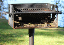 Picnic Grill Near Lake Royalty Free Stock Photography