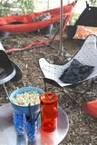 Picnic with hammock Royalty Free Stock Images