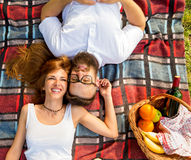 Picnic happiness Stock Images