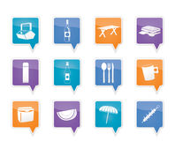 Picnic and holiday icons Stock Photos