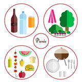 Picnic icon set Royalty Free Stock Images