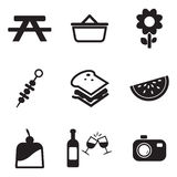 Picnic Icons Stock Photos
