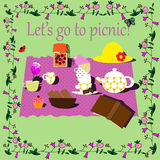 Picnic illustration Royalty Free Stock Photos