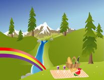 Picnic In The Mountains Royalty Free Stock Photo