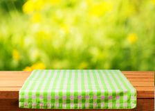 Picnic. Kitchen background outdoor cafe tablecloth cloth Stock Photography