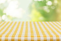 Picnic. Kitchen cloth product tablecloth display summer Royalty Free Stock Image