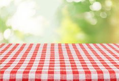 Picnic. Kitchen cloth product tablecloth display summer Stock Images
