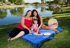 Picnic by the Lake Stock Images