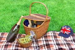 Picnic on the Lawn Stock Image