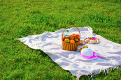 Picnic on the lawn. Royalty Free Stock Images