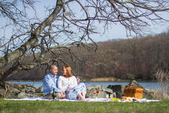 Picnic lovers royalty free stock photos