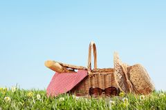 Picnic on Meadow Royalty Free Stock Photography