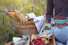 Picnic in the meadow Stock Photo